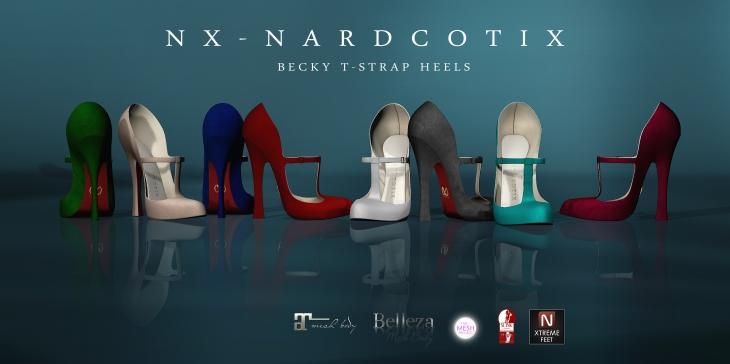 NX-Nardcotix Becky T-Strap Heels